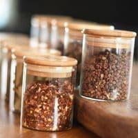 Glass Storage Jars - Spice Set